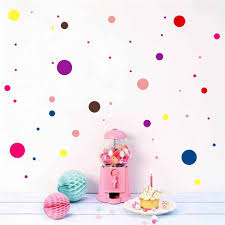 Color Polka Dot Wall Sticker For Kid Bedroom Wall Art Decal Baby Nursery Room Removable Wallpaper Home Decor Vinyl Self Adhesive Wall Stickers Aliexpress