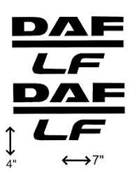 daf lf logo vinyl sticker daf xf cf lf