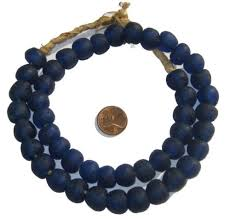 cobalt blue recycled glass beads