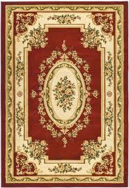 rug in red and ivory safavieh lnh218c