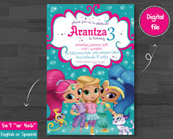 Printable Personalized Invitations Shimmer And Shine