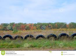 Tire Fence Stock Image Image Of Repurposed Rural Rubber 35609495