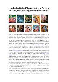 how having radha krishna painting in