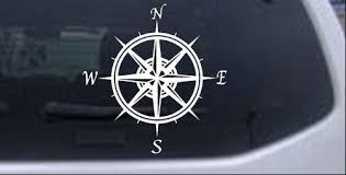 Compass Rose Car Or Truck Window Decal Sticker Rad Dezigns