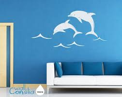 Dolphins Wall Decal Wall Sticker Large Whole Scene Is 60 Quot Wide And 37 Quot High W021 Wall Decals Tree Wall Decal Wall Sticker
