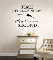 Amazon Com Home Find Time Spent With Family Is Worth Every Second Vinyl Wall Decals Family Quotes Sayings Words Art Decor Inspirational Lettering Removable Wall Art Black 28 Inches X 19 Inches Arts