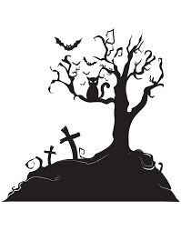 Spooky Graveyard Tree With Bat Wall Decal Halloween Home Decor 1014 Stickerbrand