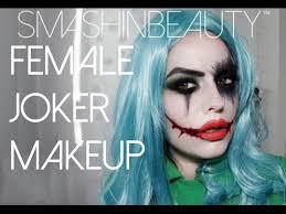 y female joker halloween makeup