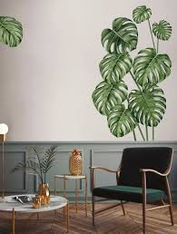Leaf Wall Decal Green Leaves Wall Decals Watercolor Leaf Etsy