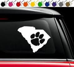 Clemson Sc State Pride Decal Vinyl Car Truck Window Sticker Love South Carolina Ebay