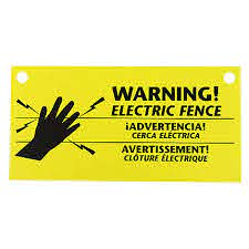 3 Pack Warning Signs Electric Fence Accessories Zareba