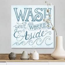 Shop Wash Your Worries Away Canvas Wall Art Overstock 25510129