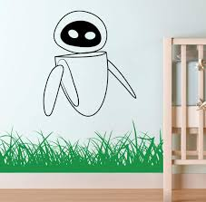 Amazon Com Eve Art Wall E Vinyl Decal Wall E Sticker Wall Child Room Boys Bedroom Applique Wall E2 Kitchen Dining