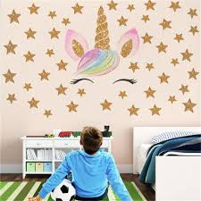 Hot Fantasy Unicorn Stars Rainbow Wall Sticker Girls Bedroom Wall Decal Art Decal Diy Nursery Home Decor Home Wall Decals Quotes Home Wall Decor Stickers From Pcharon 0 77 Dhgate Com