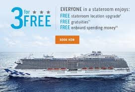 3 for free from princess cruises
