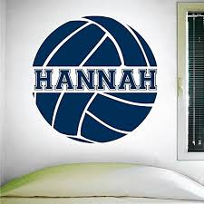 Custom Volleyball Wall Decal 0058 Personalized Volleyball Wall Decal Volleyball Theme Wall Decal Girls Room Vinyl