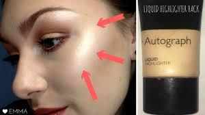 apply liquid highlighter cc
