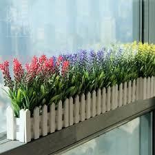 Zhigen Artificial Plant Lavender Fence Set Plastic Flower Fake Flower Living R Shopee Philippines