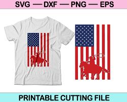 Cowboys Usa Flag Svg File Or Dxf File Make A Decal Or Tshirt Creativeusart