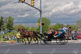 LANCASTER PA - MAY 14 2017: An Amish ...