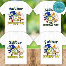 Camisa De Cumpleanos De Sonic The Hedgehog Para Imprimir Para La