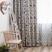 White Blackout Curtains For Living Room Christmas Tree Curtains For Kids Bedroom Deer Window Drapes Baby Room Rideau Enfant Buy At The Price Of 5 43 In Aliexpress Com Imall Com