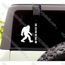 Sale Ford Bronco Believe Big Foot Sasquatch Decals Sticker