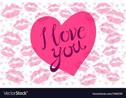 i love you kiss red lips heart pink