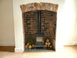 wood burning stove green recess