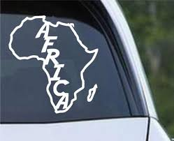 Africa Country Outline With Name Die Cut Vinyl Decal Sticker Decals City