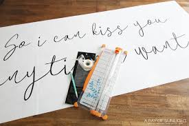 Diy So I Can Kiss You Anytime I Want Sign