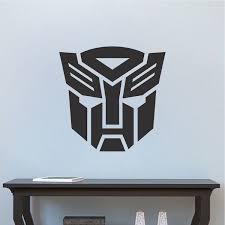 Autobot Logo Transformer Bedroom Decor Transformer Logo Wall Mural Transformers Optimus Prime Wallpaper Transformers Transformers Decorations Vinyl Decals