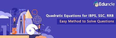 how to solve quadratic equation