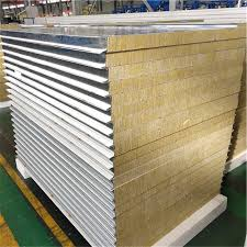 China High Density Rockwool Soundproofing Acoustic Fence Panels Fireproof Rock Wool Sandwich Panel China Machine Clean Room Sandwich Panel Air Shower Clean Room