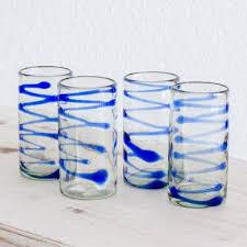 11 oz tumbler glasses hand blown glass