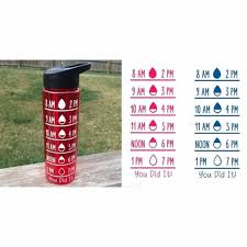 Water Bottle Timer Decal Decal Only Jane