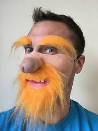 Funny Half Face Scottish Dick Nose Mask Scotsman Ginger Beard ...