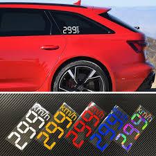 Universal Car Speed Meter 299km H Digital Stickers Body Window Decal Vinyl Graphic For Subaru Ford Ranger Vw Golf Gti Jdm Gk5 Car Stickers Aliexpress