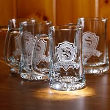 personalized shield beer mugs set of 4
