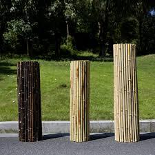 China Bamboo Fence Garden Fencing Panel With Natural Black Mahogany Brown Colors China Bamboo Fence Bamboo Fencing
