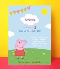 Peppa Pig Invitation Peppa Pig Birthday Invitaciones De