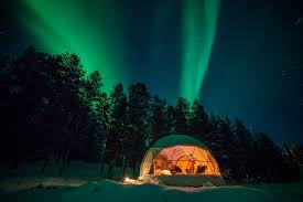 stay in a glass igloo or aurora bubble