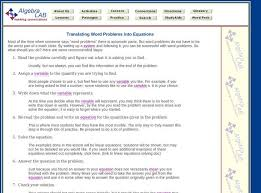 translating word problems into