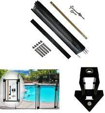 Amazon Com Pool Fence Diy By Life Saver Pool Fence 72 Foot Black Barrier Fence Self Closing Gate Drill Guide Bundle Garden Outdoor