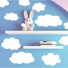 Fluffy Cloud Wall Decals Baby Nursery Room Wall Decor Walmart Com Walmart Com