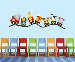 Amazon Com Train Theme Wall Decal Baby Room Decor Nursery Wall Decals Train Wall Decor Mural Sticker Baby
