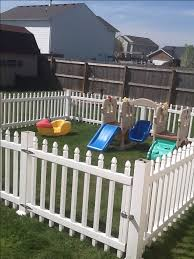 Our New Play Area Fence Within A Fence The Toddlers Play In Here To Keep Them Safe From Swing Backyard Kids Play Area Play Area Backyard Backyard Playground