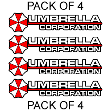 4x Umbrella Corporation Hive Resident Evil Vinyl Sticker Car Truck Window Decal Ebay