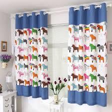 New Fashion Cartoon Curtains For Kids Children Baby Room Modern Mediterranean Patchwork Windows Curtain W5 Boys Room Curtains Kids Room Curtains Boys Curtains