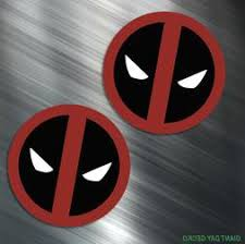 Two Deadpool Vinyl Decal Sticker For Car